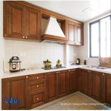 Armoires de cuisine en bois massif Antique Brown Color