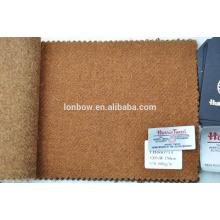 stock lot bespoke tweed fabric in plain design