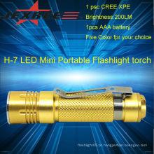 Luz de emergência cree lanterna led 200lm tocha portátil