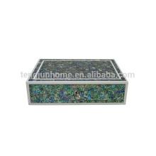 New zealand paua seashell colorful preserve jewelry case