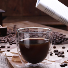 reusable clear borosilicate glass drinking coffee  cup insulated glasses espresso cappuccino hot beverage mugs