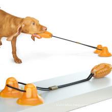 Shop explosion type double sucker drawstring dog toy molar bite ball dog toy