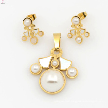 Fashion design stainless steel wholesale jewelry set for women