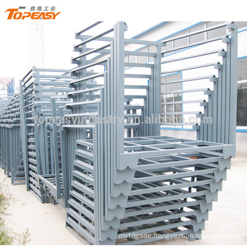 Powder coated metal stackable rack for logistics warehouse
