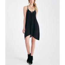 Weiche Rayon schwarz sexy Mode Großhandel Slip Mädchen Kleid
