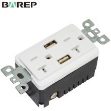 BAS20-2USB Alibaba multi function universal double usb wall switch socket