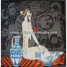 Arte al por mayor de la pintura china con la muchacha atractiva