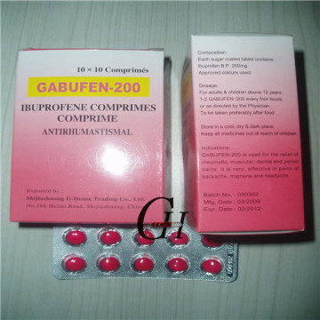 Ibuprofeno tabletas 200 mg