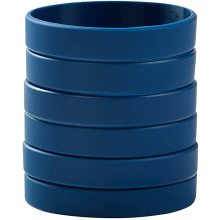 Single Colors Blank Silicone Wristbands Rubber Bracelets