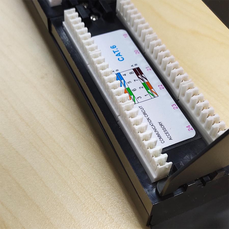 24 ports 110 IDC CAT6 patch panel