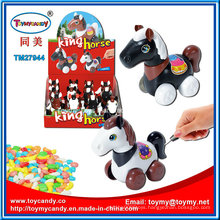 Plastic King Walking Horse Toy with Candy