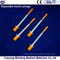 Jumelage à insuline médicale à 0,3 cc / 0,5 cc / 1 cc avec aiguille (ENK-YDS-001)