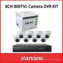 8ch 800tvl cámara de vigilancia CCTV de seguridad dvrkits