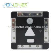 Luz del sensor de 4 LED con el interruptor de la luz del sensor de movimiento
