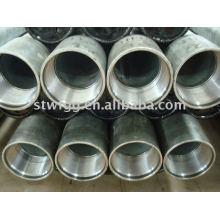 Tuyau d'acier sans couture galvanisé par ASTM A53 avec le fil et l'accouplement