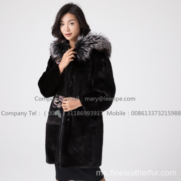 Copenhagen Mink Fur Coated Hooded Women