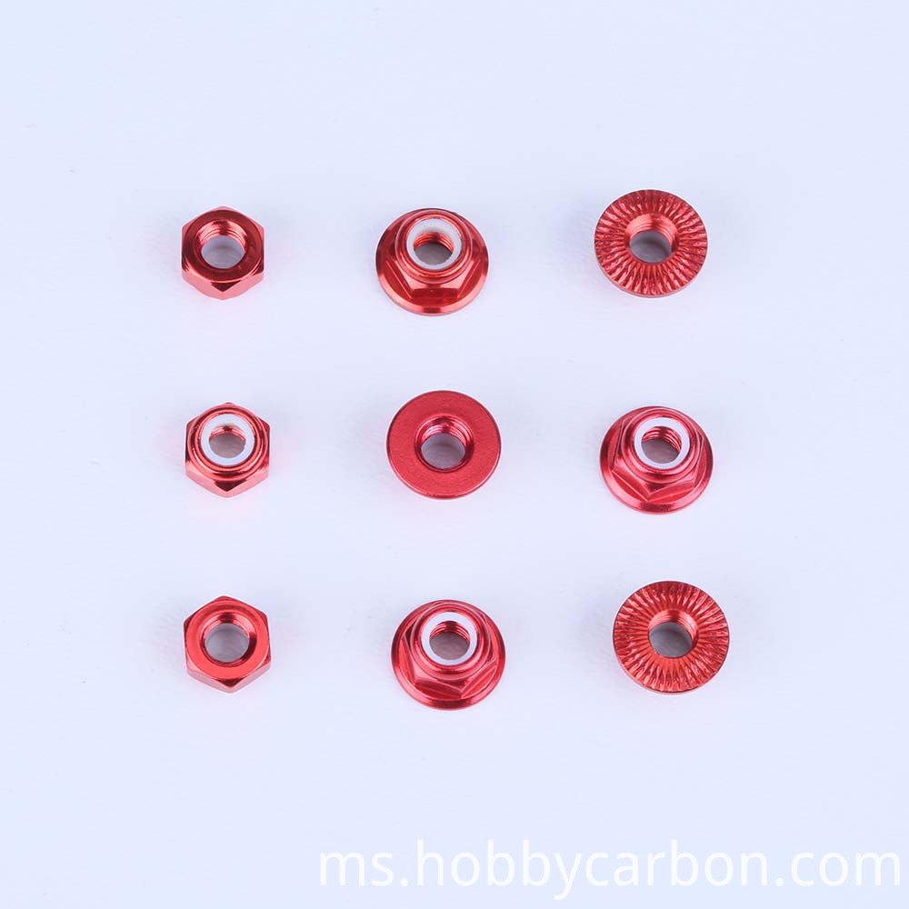 OEM aluminum anodized button serrated nut