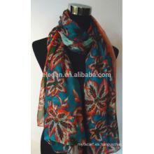 Bufanda floral de seda de la impresión de la flor