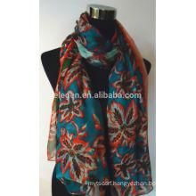 Silk Floral Flower Print Scarf