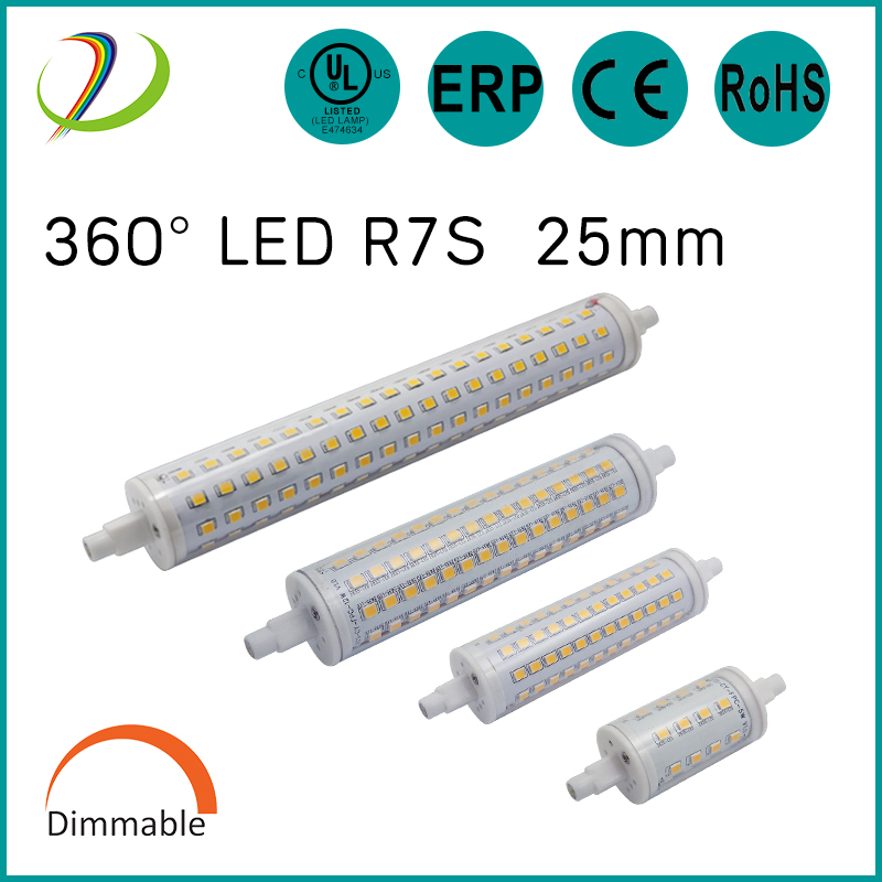 UL CUL lista led r7s 135mm 12w dimmable r7s lâmpada