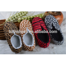 Leopard или зебра печати новый дизайн 2016 крытый тапочки зимняя обувь туфли