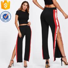 Кнопка ленты боковые брюки Производство Оптовая продажа женской одежды (TA3090P)