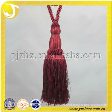 red curtain tassel tieback textile accessory