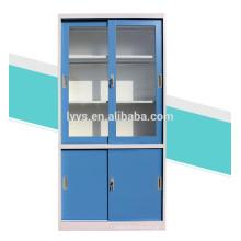armário de metal da porta de vidro deslizante