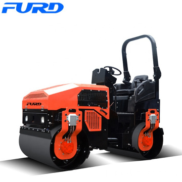 Diesel engine double drum 3000kg powerful vibrating roller