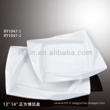 Plaque carrée blanche avec décoration spéciale pour mariage