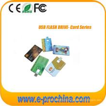 Tarjeta de visita USB Flash Drive con Logo gratuito Tc06