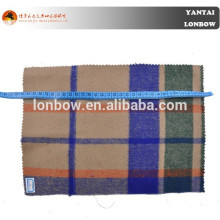 Plaid wool acrylic blend fabric double face fabric 850g/m