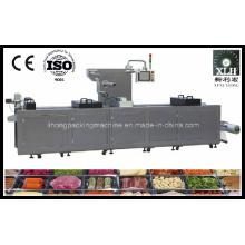 Dlz-460 Vollautomatische Vakuumverpackungsmaschine für gekochte Lebensmittel mit kontinuierlicher Dehnung