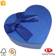 Embalagem de papel de presente de jóias de forma de coração