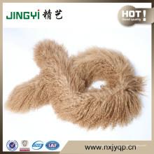 Bufanda de piel de cordero de Mongolia tibetana al por mayor genuina