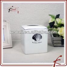 Caja de tejido de cerámica concha