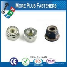 Fabricado en Taiwán M5-0.8 DIN 985 Grado A4 de acero inoxidable Nylon insertar tuerca de bloqueo