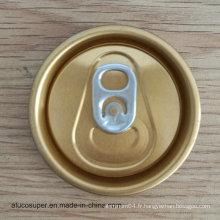 52mm 202 Rpt Sot Easy Open End Eoe pour 250ml 330ml Boîte à boissons en aluminium