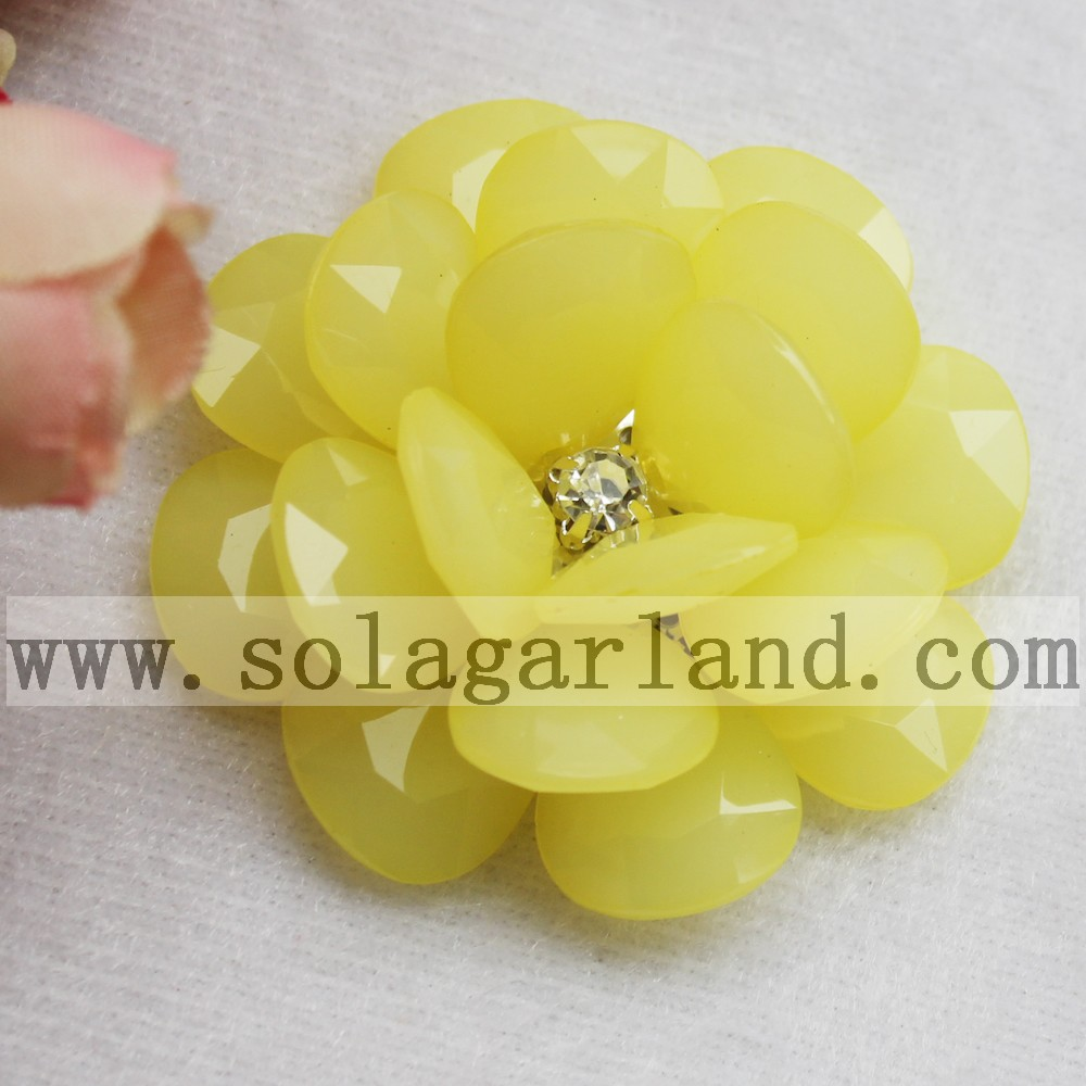 Jelly Color Artificial Beaded Flower