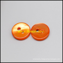 River Shell Button with Enamel Color