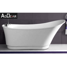 Aokeliya hot-selling high back acrylic freestanding bathtub with shower faucet for hotel or household