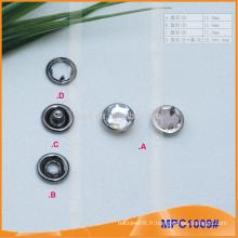 Bouton à pression en laiton à cristaux liquides MPC1009
