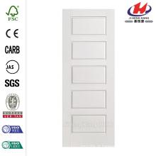 36 polegadas x 80 polegadas Hot Riverside Square 5-Panel Equal Hollow Core Primed Composto Single Prehung Porta Interior