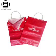 Plastic Hard Loop Hand Promotional Cheap Logo Shopping Bags