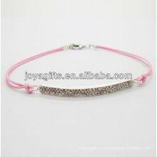 Браслет из сплава диаманта с розовым проводом