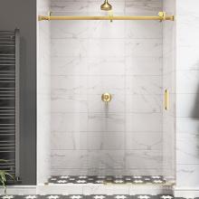 Seawin Chrome Bathroom Frameless Tempered Glass Sliding Shower Doors
