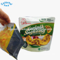 foil zip lock stand up pouch with zipper reclosable snack bag
