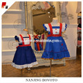 Wholesale hand fireworks embroidered navy dress