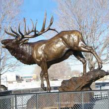 Wax Lost Casting Bronze Life Size Deer Statue Garden Ornament for Immediate Sale