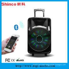 Factory Supply Plastic Trolley DJ Karaoke Bluetooth Speaker with Battery